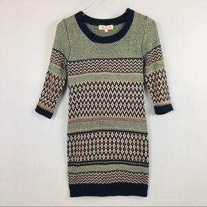 Pink Rose knit Sweater Dress size S